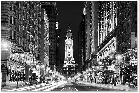 Amazon Com City Hall Philadelphia By Philippe Hugonnard 16x24 Inch Canvas Wall Art Posters Prints