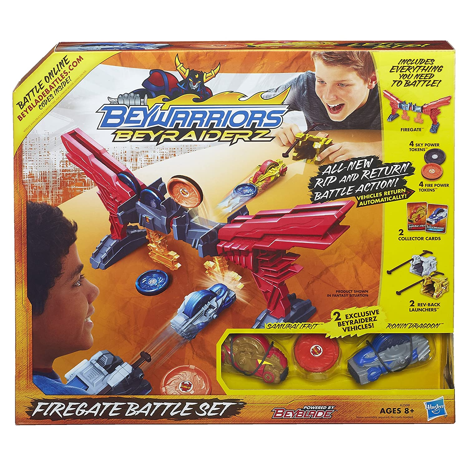 Amazon Beyblade BeyRaiderz Firegate Battle Set Toys & Games