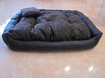 Perro sofá cama para perros Perros cesta de piel sintética lana grande 100 cm x 80 cm x 25 cm: Amazon.es: Jardín