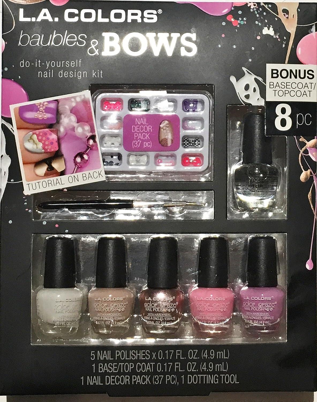 Amazon la colors nail art design kit baubles and bows beauty solutioingenieria Choice Image