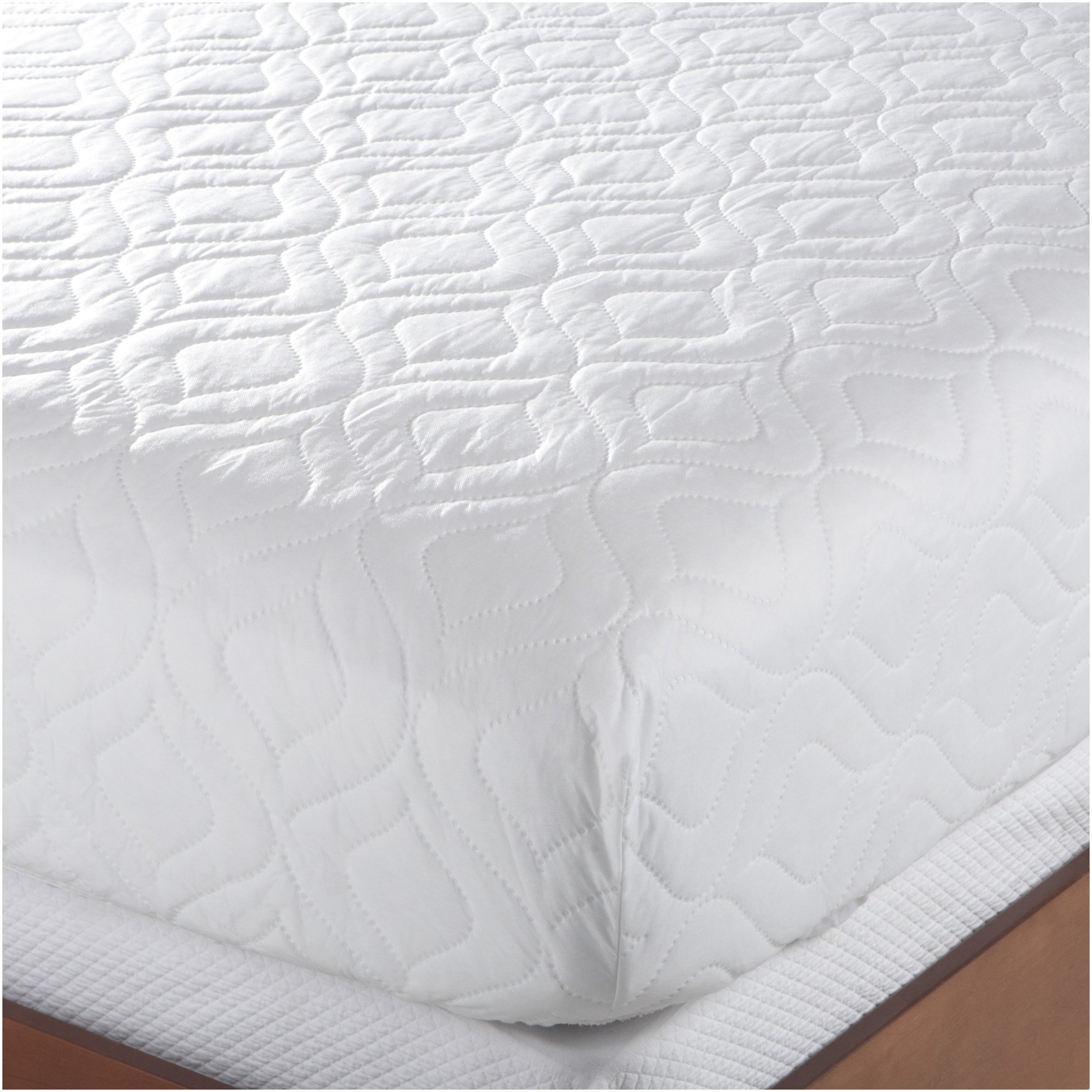 bed mattress pad cover queen size white protector pillow top topper quilted soft. Black Bedroom Furniture Sets. Home Design Ideas