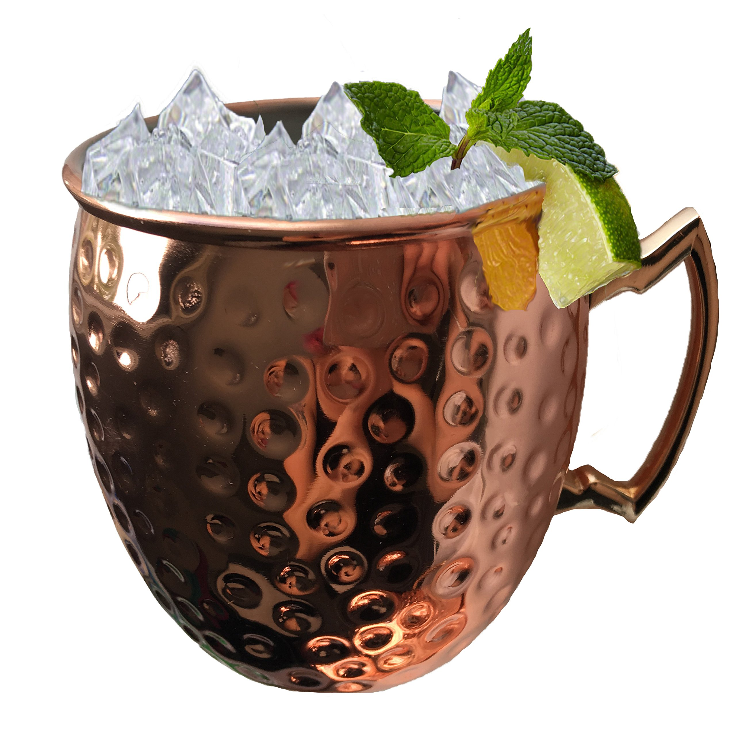 BonBon Luxury Moscow Mule Copper/Nickel Mug Cup 4 pack New (Copper/Nickel)