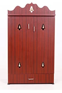 3 Feet Pooja Cabinet in Rosewood Color