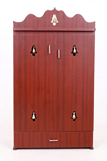 Buy 3 Feet Pooja Cabinet In Rosewood Color Online At Low Prices In India    Amazon.in