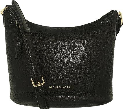 c70e88f191a3 MICHAEL Michael Kors Womens Lupita Leather Messenger Handbag Black Medium