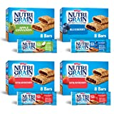 Kellogg's Nutri-Grain, Soft Baked Breakfast Bars, Variety Pack, Good Source of 8 Vitamins and Minerals, 2.6lb case (4…