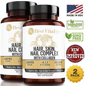 Amazon Com Bestvitality 2 Pack 100 All Natural Biotin