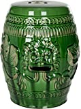 Safavieh Castle Garden's Collection Green Glazed Ceramic Chinese Dragon Garden Stool