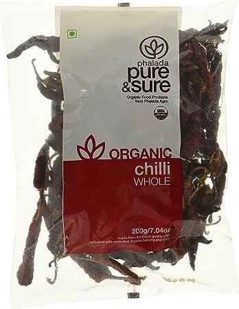 Pure & Sure Organic Chili Whole, 200g