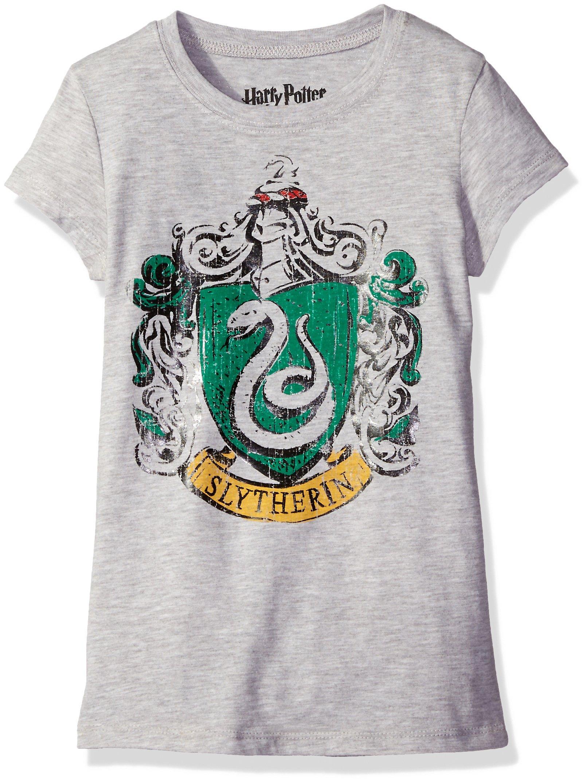 Harry Potter Big Girls' Short Sleeve T-Shirt Shirt, Heather Grey, Medium