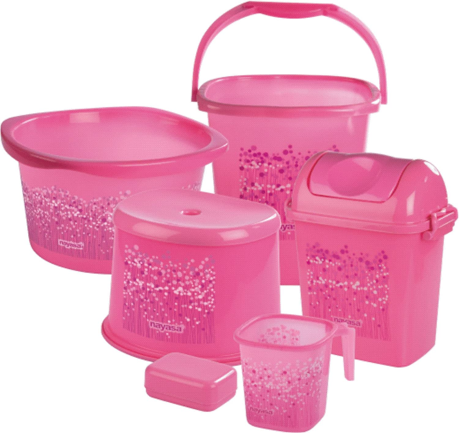 Charmant Nayasa Funk Bathroom Set Deluxe, 6 Pieces, Pink: Amazon.in: Home U0026 Kitchen