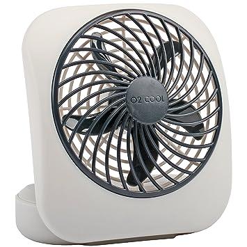 fan amazon. o2cool 5-inch portable fan, gray fan amazon