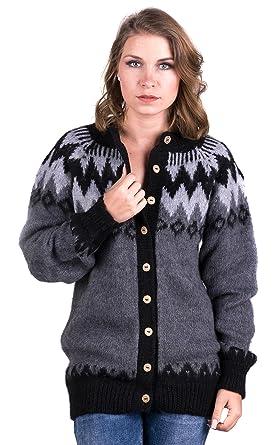 38b91f4b10e3 Gamboa - Baby Alpaca Cardigan for Women - Buttoned Cardigan - Grey ...