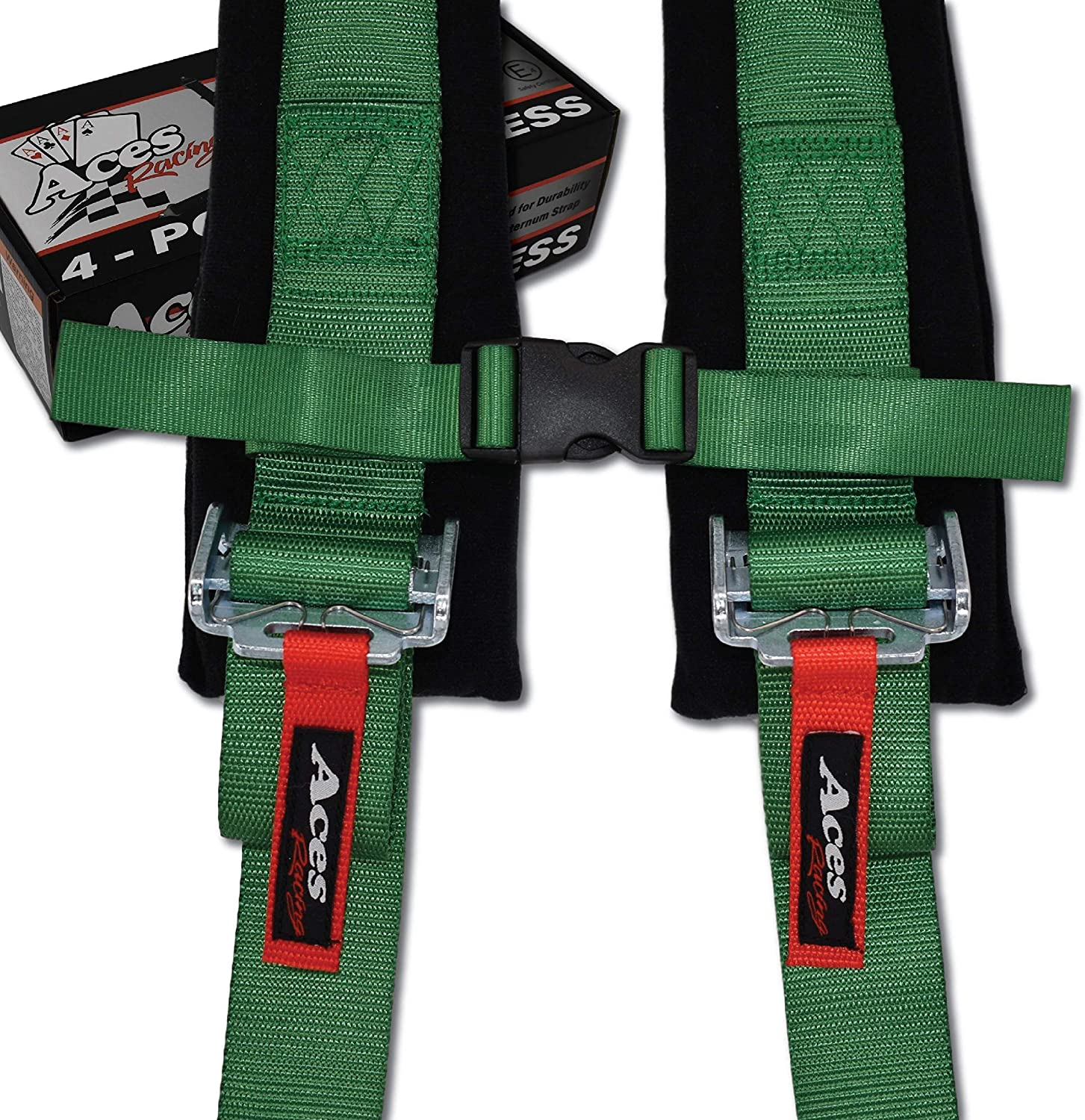 4 Point Harness with 2 Inch Padding Ez Buckle Technology Pair Black