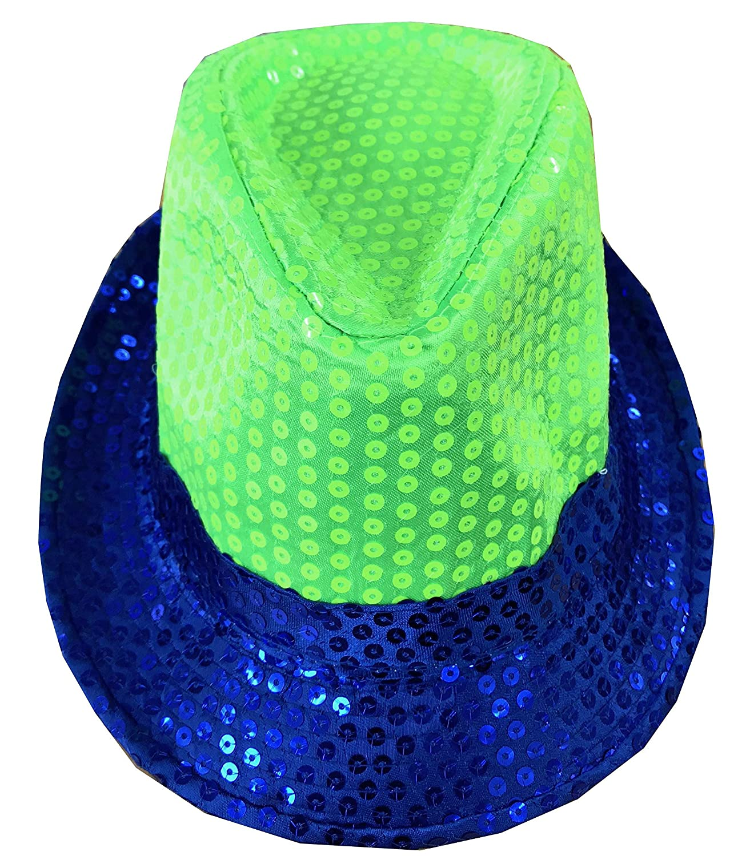 Unisex Fedora Trilby Sequin Mens Ladies Gangster Glitter Top Hat Fancy Dress UK