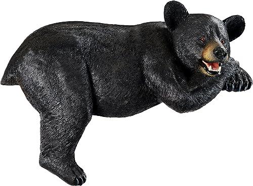 Design Toscano KY1884 Lemont The Lovable Lounger Black Bear Roof Mount Outdoor Garden Statue