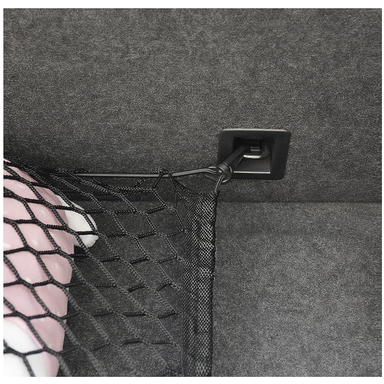 Organisateur Nylon Maille Ruesious Filet de Coffre Extensible Robuste pour SUV Bungee Filet de Transport Universel Extensible avec Crochets Van -Noir SUV pour Voiture Stockage