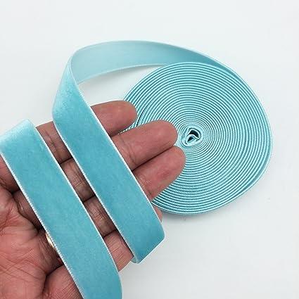 Green PEPPERLONELY 5 Yards Single Face Velvet Ribbon 16mm 5//8 Inch