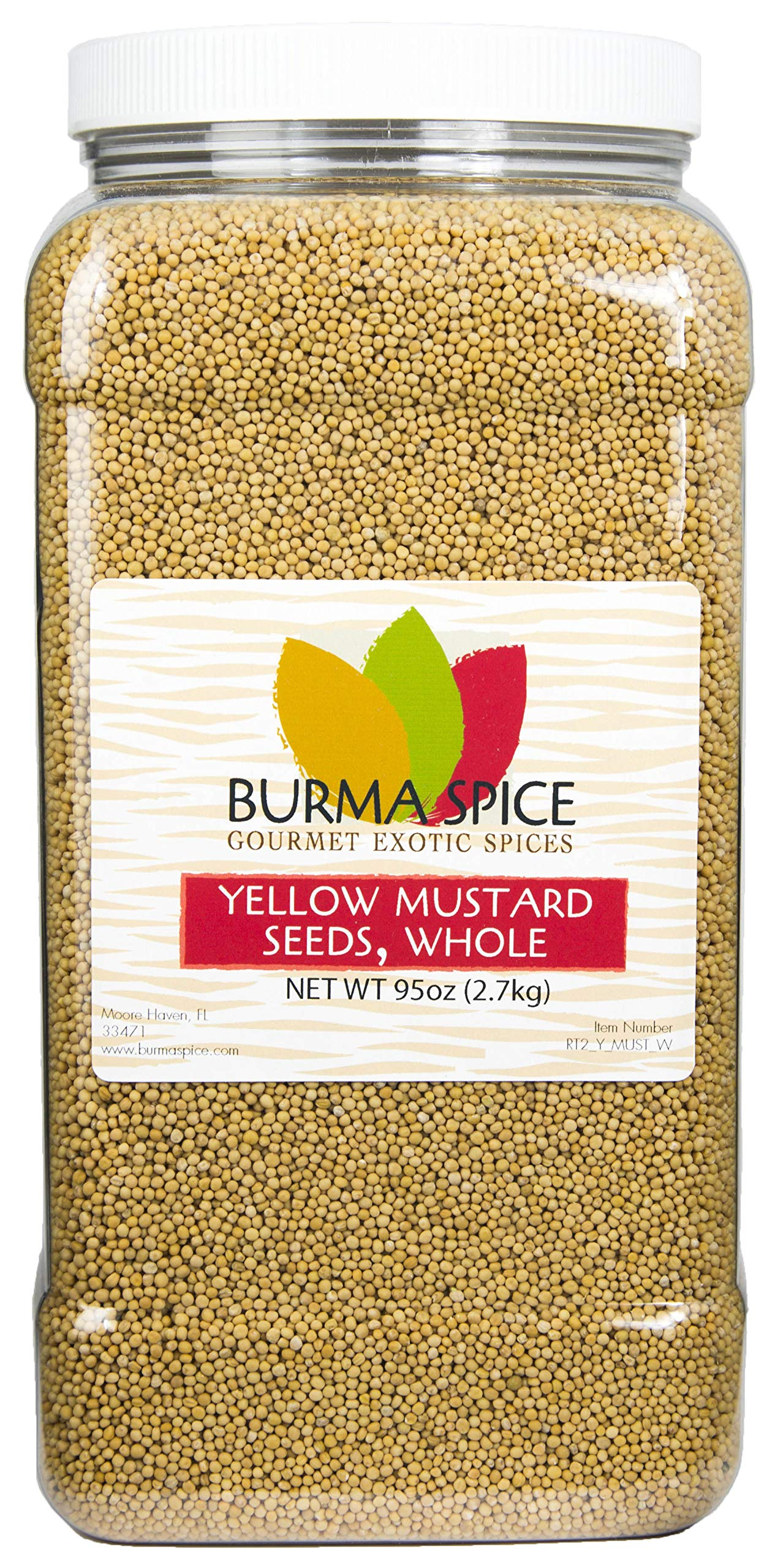 Yellow Mustard Seed : Whole, Dried, Spice, Herb, Seasoning, Indian Cuisine, Kosher (96oz.)