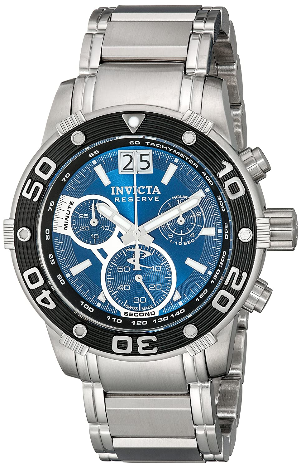 Invicta Men s 10588 Ocean Reef Reserve Chronograph Blue Dial Stainless Steel Watch