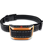No Shock Bark Collar for Small to Large Dogs - Smart Chip Adjusts to Stop Barking in 1 Minute - Highly Effective Vibration and Sound Stops Barks Fast with No Pain - Safe, Anti-Bark Device
