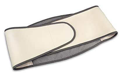 Medisana HS-680 Cinturón térmico con batería recargable, color beige con tiras en negro