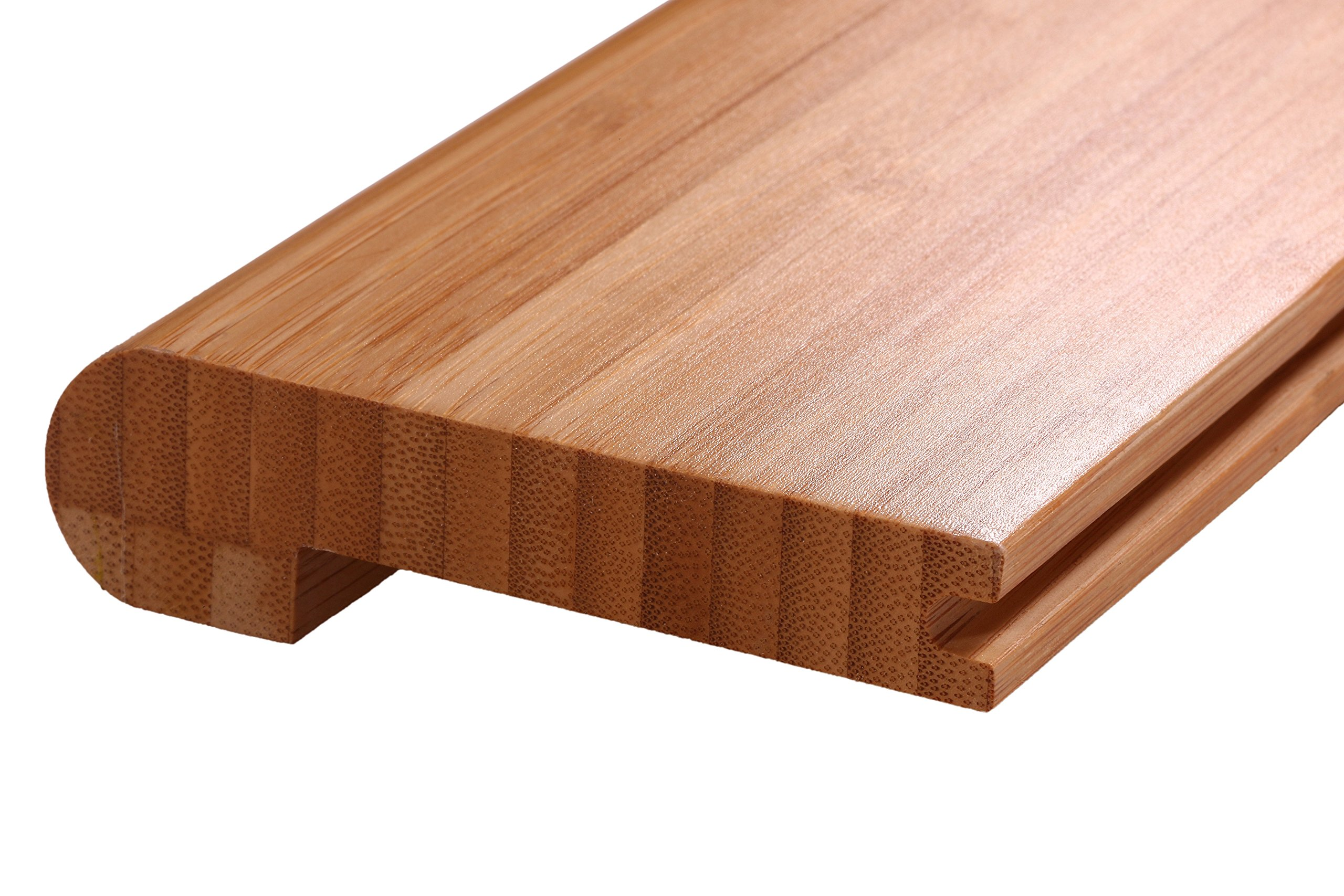 AMERIQUE Pre-Finished Solid Vertical Carbonized Bamboo Stair Nose, 72'' L x 3-1/2'' W x 3/4'' H