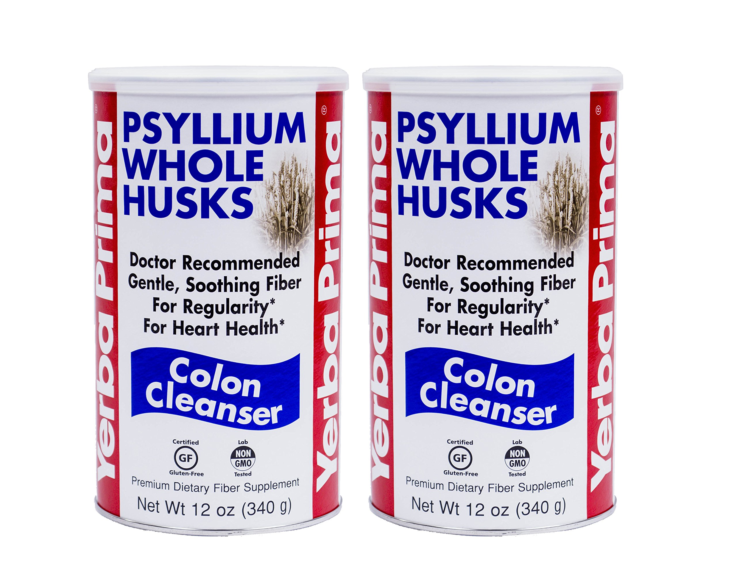 Yerba Prima Psyllium Whole Husks, Colon Cleanser 12 oz (Pack of 2)