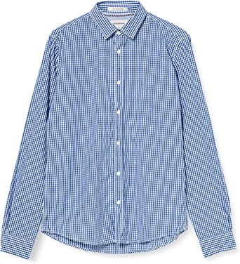 Springfield Popelin Cuadros Vichy-C/12 Camisa Casual, Azul ...