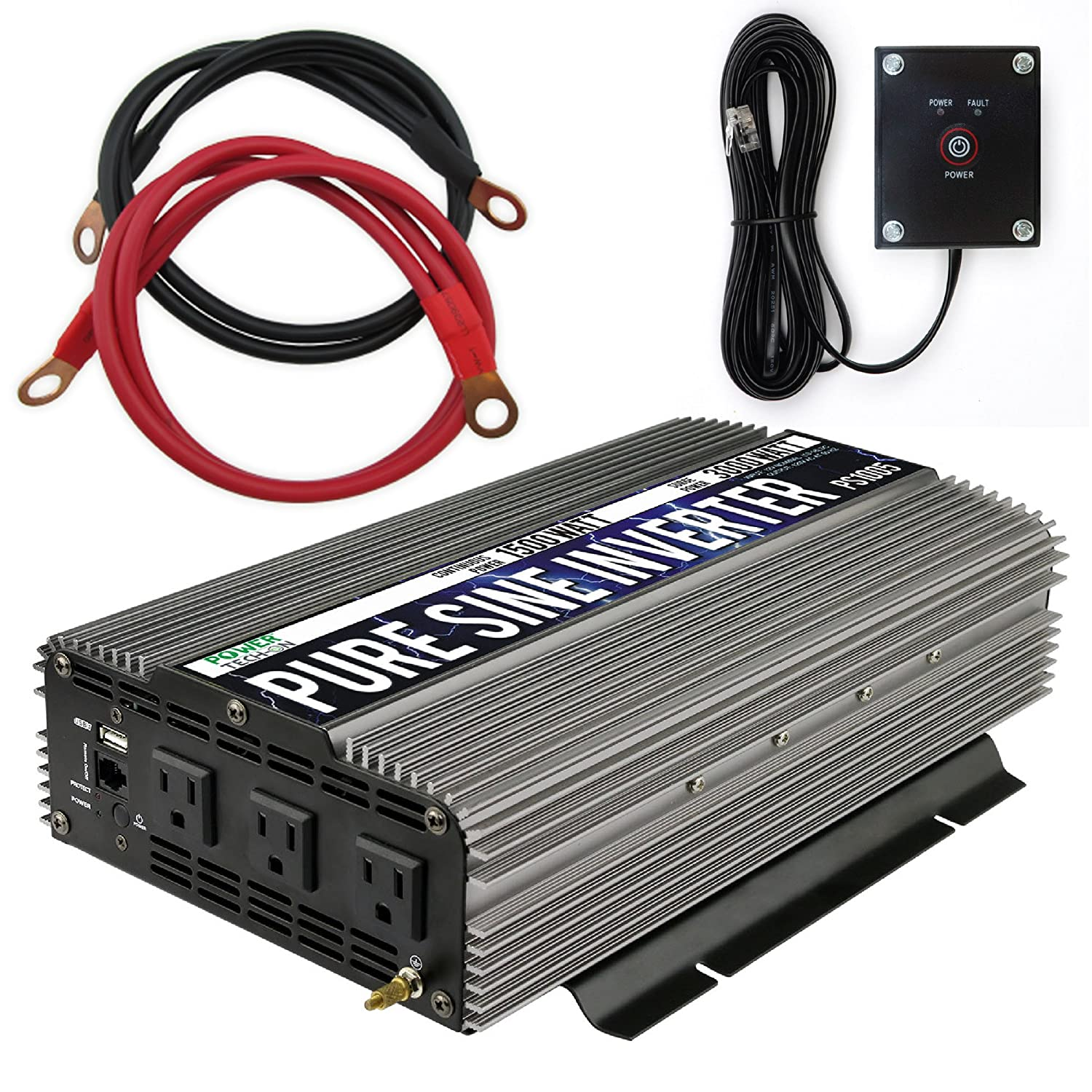 Power TechOn PS1005 Pure SINE Wave Inverter 1500W Cont/3000W Peak