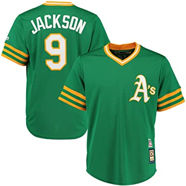 buy popular 95599 212d7 Reggie Jackson Oakland Athletics Green Youth Cool Base Cooperstown Jersey