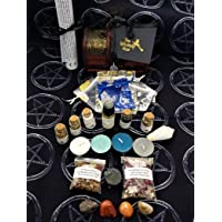 Witches Altar Chest ~ The Witching Hour ~ Crystals ~ Incense ~ Goddess Candles ~ Potion Bottles FREE Altar Cloth ~ Spell Kit ~ Oil ~ All Hand Blended On Full Moon ~ Pagan Wicca Celtic Witches Kit