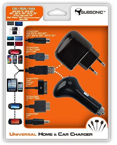 Subsonic - Cargador Universal Casa y Coche para PSP/PS Vita ...