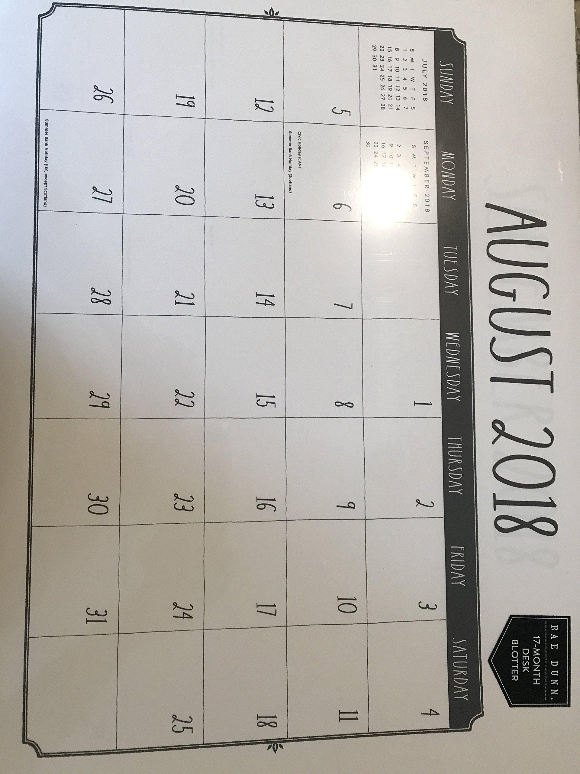 Rae Dunn Desk Blotter Calendar 17 Month