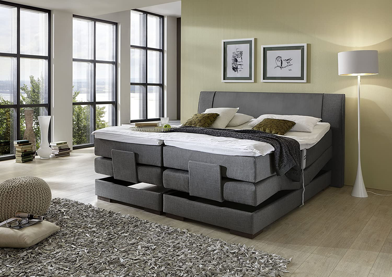 brisbane plus inkl motor boxspringbett hotelbett. Black Bedroom Furniture Sets. Home Design Ideas
