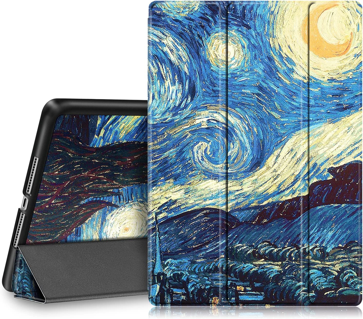 Fintie Case for iPad 9.7 2018/2017 - Lightweight Slim Shell Standing Cover with Auto Wake/Sleep Feature for iPad 6th / 5th Gen 9.7 Inch Tablet, Starry Night