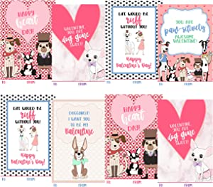 Hipster Puppy Dog Themed Valentine Day Classroom Sharing Card Set (20 Included) Trendy