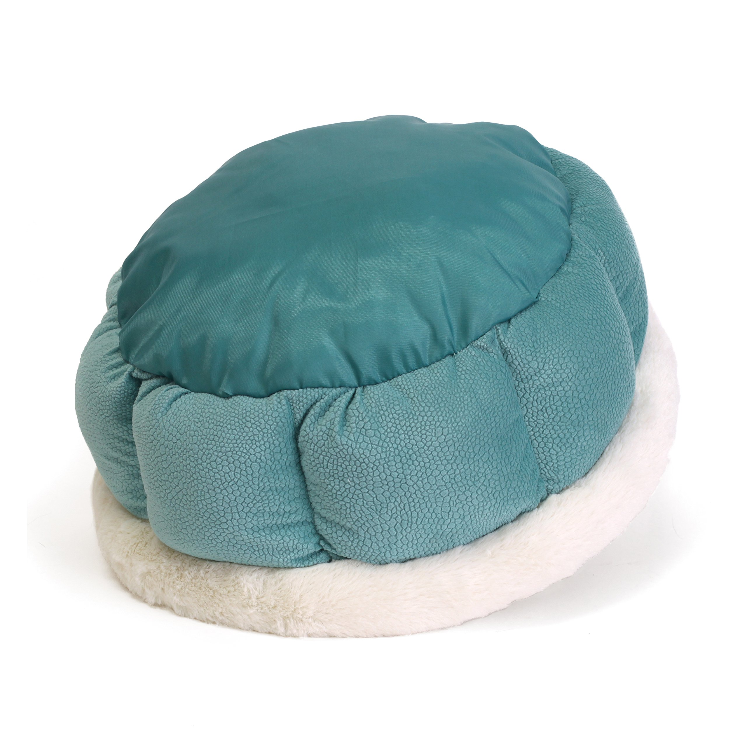 Best Friends by Sheri Small Cuddle Cup - Cozy, Comfortable Cat and Dog House Bed - High-Walls for Improved Sleep, TidePool by Best Friends by Sheri (Image #7)