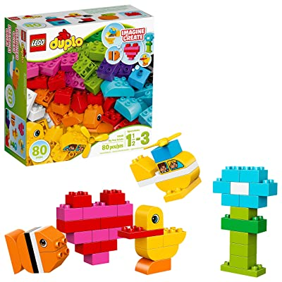 LEGO DUPLO My First Bricks 10848 Colorful Toys Building Kit for Toddler Play and Pretend Play (80 Pieces): Toys & Games