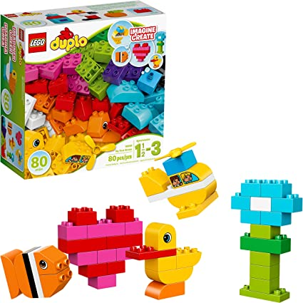 Amazon Com Lego Duplo My First Bricks 10848 Colorful Toys Building Kit For Toddler Play And Pretend Play 80 Pieces Toys Games