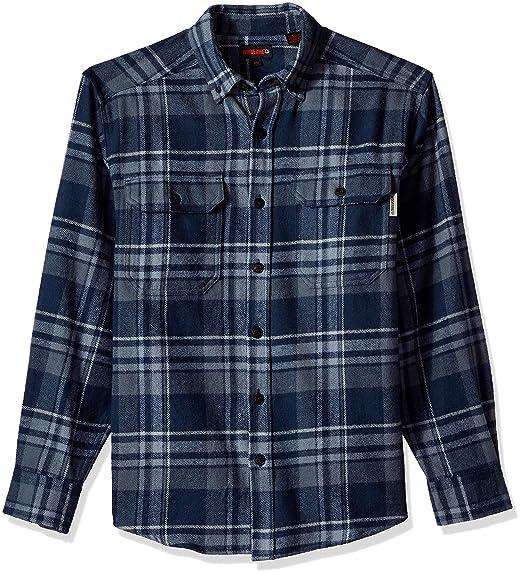 Wolverine Men Glacier Heavyweight Long Sleeve Flannel Shirt