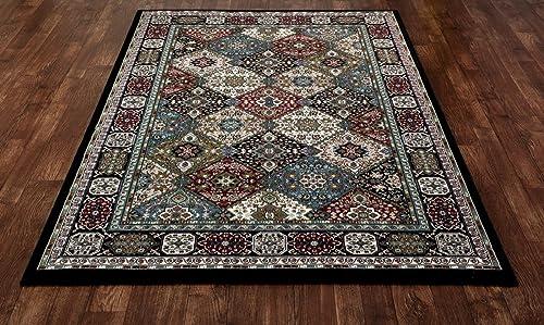 Art Carpet Kensington Collection Patchwork Woven Area Rug, 9 x 12 , Black Multicolored