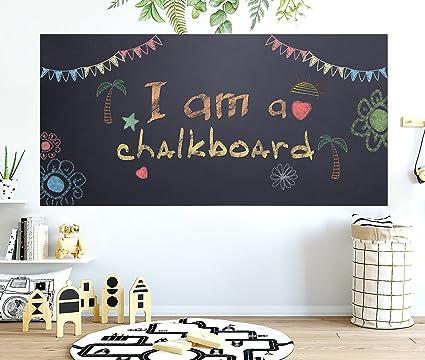 Chalkboard Contact Paper - 17.7u201d x 78.7u201d Large Chalkboard Sticker Wall Decal with 5 & Amazon.com: Chalkboard Contact Paper - 17.7u201d x 78.7u201d Large ...