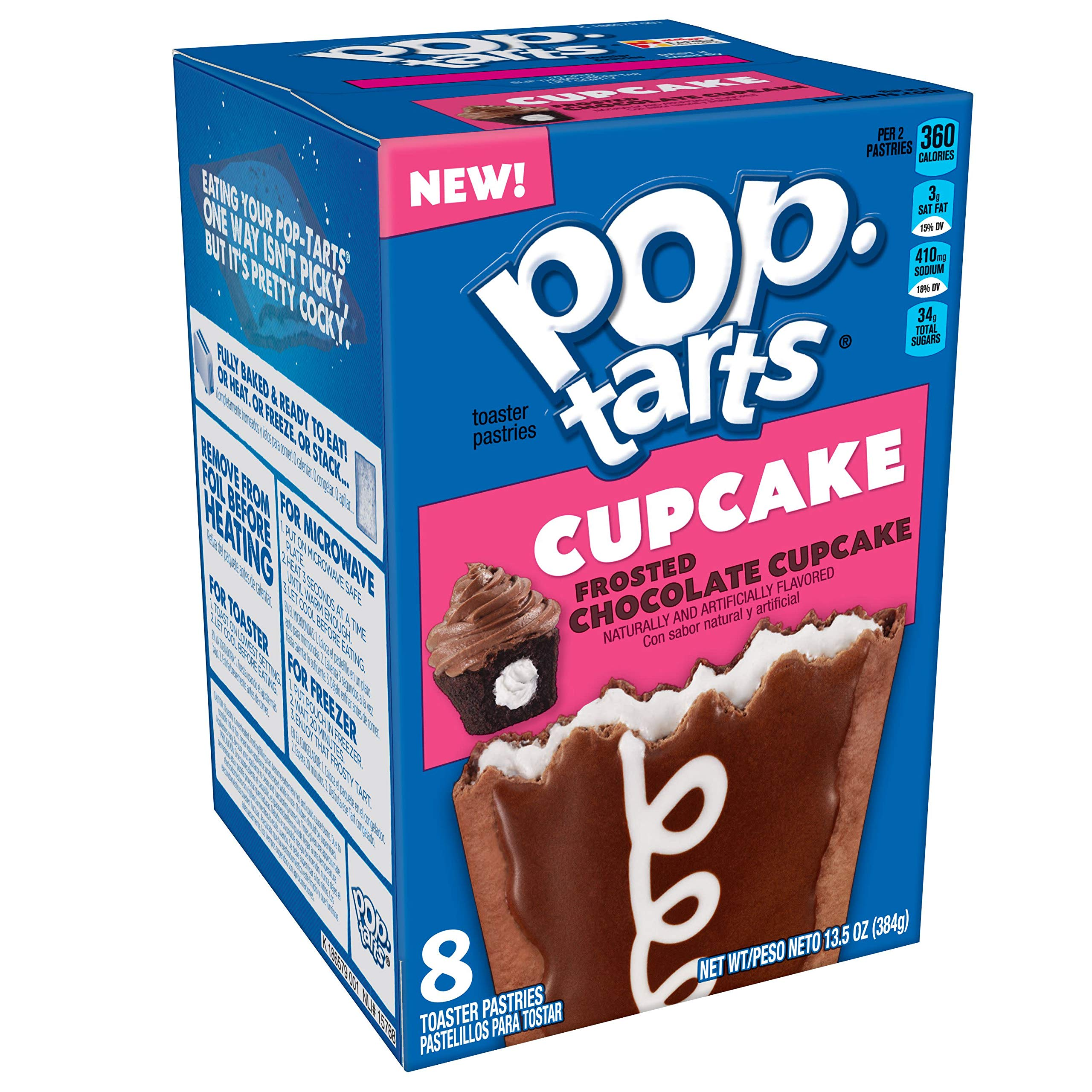 Pop-Tarts Cupcake, Breakfast Toaster Pastries, Frosted Chocolate Cupcake, 13.5oz Box (Pack of 12) by Pop-Tarts
