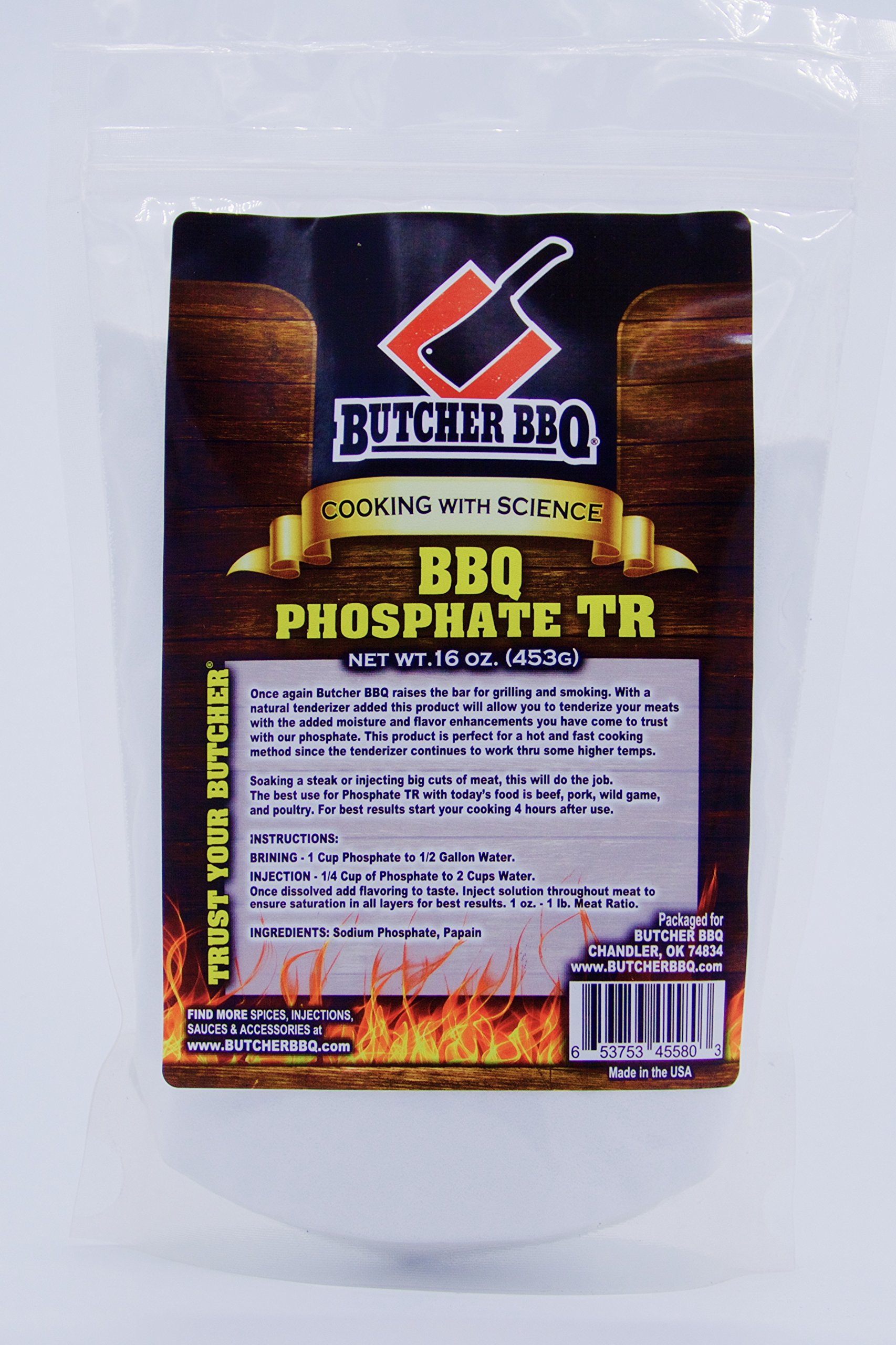 Amazoncom Butcher BBQ Phosphate TR Tenderize while