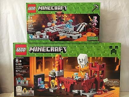 Amazon com: LEGO Minecraft the Nether Fortress & Lego
