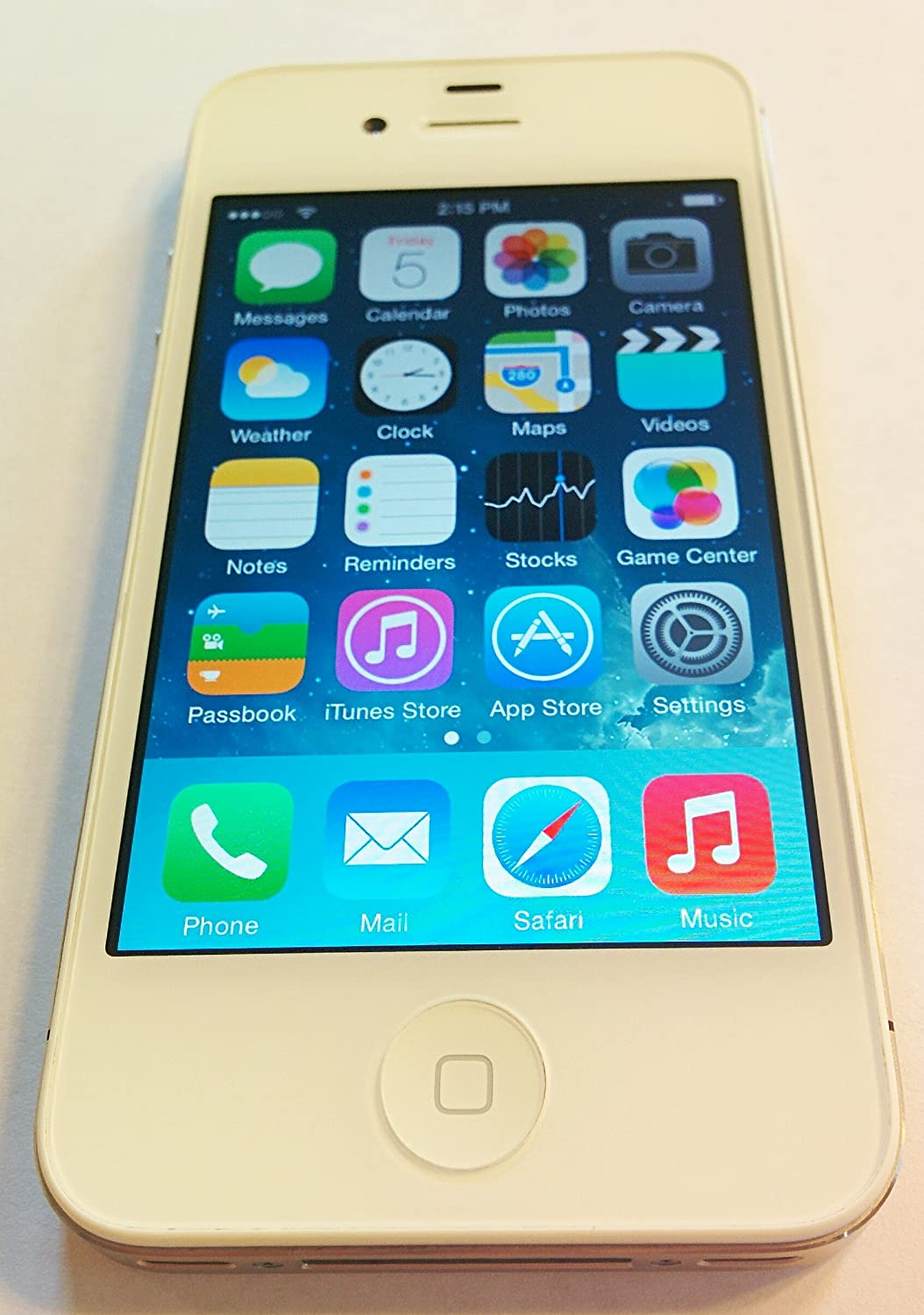 amazoncom apple iphone 4 8 gb straight talk white cell phones accessories