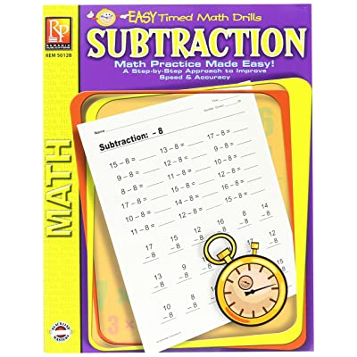 "Remedia Publications REM5012B Subtraction Easy Timed Math Drills Book, 8.6"" Wide, 11.4"" Length, 0.3"" Height: Remedia: Industrial & Scientific"