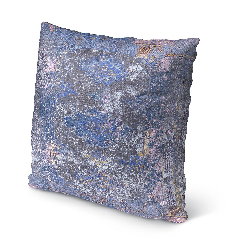 - NAVAJO Collection Size: 16X16X6 - KAVKA Designs Cimarron Purple Indoor-Outdoor Pillow, Grey//Blue//Purple MGTAVC2033OD16