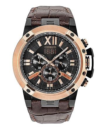 44cad2c7f Buy Cerruti 1881 Analog Black Dial Men's Watch-CRA145SBR61DB Online at Low  Prices in India - Amazon.in